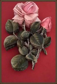 Rölyef çalışmalarım 3d Paper Art, Paper Crafts, Decoupage, Origami Art, Ceramic Flowers, Paper Folding, Printable Designs, Paper Quilling, Flower Wall