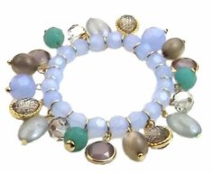 When it comes to online fashion shopping, Noblag.com is the place. You can buy your  #bestvaluefashionjewelry such as stretchable bracelets, threader earrings, crawlers, cuff bracelets , pearl jewelry at very little prices plus FREE shipping. Shop now: https://www.noblag.com/gold-tone-blue-green-beaded-stretch-bracelet.html