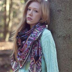 Wild Goose Chase fine wool twill scarf | Helen Ruth