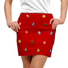 Loudmouth Golf Skort Deck The Halls. Fun skort for your holiday round at golf4her.com #golf
