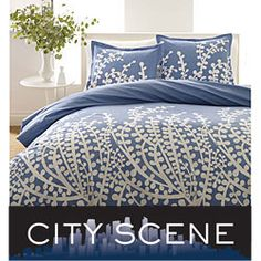 @Overstock - Contemporary bedding set will make your bedroom decor complete   Comforter features a clean style in blue  Bedding includes a comforter and one sham for Twin and two with Full/Queen and Kinghttp://www.overstock.com/Bedding-Bath/City-Scene-Branches-French-Blue-3-piece-Comforter-Set/3248979/product.html?CID=214117 $69.99