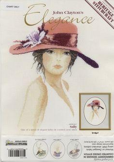 "ru / 363636 - The album ""Sally"" John Clayton, Cross Stitch Angels, Victorian Women, Circle Design, Hats For Women, Sally, Cross Stitch Patterns, Crochet Hats, Elegant"
