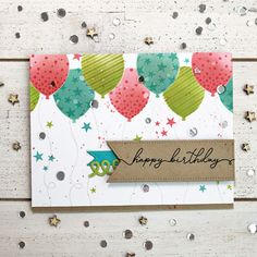 papertrey ink january 2018 release - birthday balloons collection