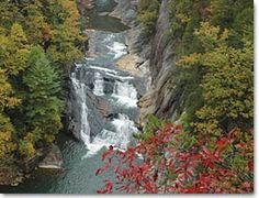 Tallulah Gorge State Park in Tallulah Falls, GA. One of the most spectacular canyons in the eastern U.S., Tallulah Gorge is two miles long and nearly 1,000 feet deep.