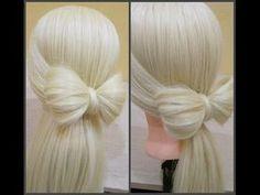 Как легко сделать бант из волос?прическа бант. легкий способ.Bow of hair 2 min .Easy - YouTube