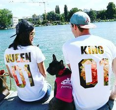Couples t-shirts set King Queen Matching couple shirts King and Queen Tops - Matching set Royalty Couple shirts.  T-shirts are BLANK on their front. If you would like to have a design on their front, please, write us a message.  We are happy to tell you that all our FUNNY ARTiSHOCK are custom-designed and made with love for our customers. You can choose colors of prints, add other words and names. Please, feel free to contact us to get T-shirt with Your Own Design.  You might also be…
