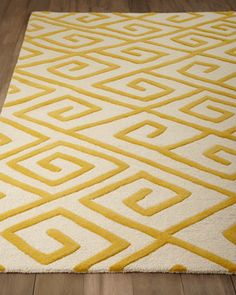 """Greek-Key Maze"" Rug by Global Views at Horchow."