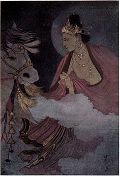 Departure of Prince Siddartha // from Myths of the Hindus & Buddhists, 1914