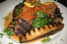 from The Sephardic Kosher Kitchen Braised Meatballs with Eggplant