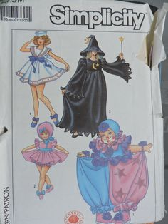 Adult Baby Doll Sailor Outfit Clown Witch Halloween Stage Play Costume Cheryl Johnson Simplicity 8834 Adult Size Small Pattern Sz. 10 - 12 Halloween Costume Sewing Patterns, Costume Patterns, Halloween Costumes For Girls, Vintage Halloween, Sailor Costumes, Girl Costumes, Adult Costumes, Baby Doll Clothes, Baby Dolls