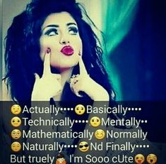 Whatsapp attitude dp girl boy whataspp f. Cute Girly Quotes, Cute Quotes For Girls, Crazy Girl Quotes, Funny Girl Quotes, Quotes About Attitude, Attitude Quotes For Girls, Girl Attitude, Attitude Status, Besties Quotes