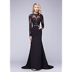 Ok Dress Long Sleeve Lace Mermaid Wedding Prom Dresses 2015 Backless Bridal Gowns