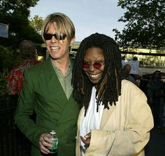 David Bowie with Whoopi Goldberg