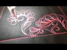 #FMQ201 Video #27   Clematis Longarm Free Motion Quilting Video - YouTube