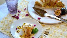 Passion Fruit Cake with Double Topping (Bolo de Maracujá com Cobertura Dupla)