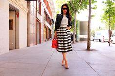 Falda midi alicia rueda+ perfecto