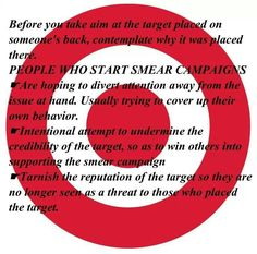 Smear Campaigns are an attempt to divert attention from the narcissist upon the… Narcissistic Sociopath, Narcissistic Personality Disorder, Verbal Abuse, Emotional Abuse, Hidden Agenda, Feeling Worthless, Gaslighting, Codependency, Abusive Relationship