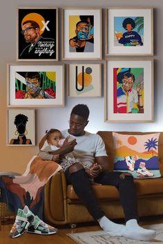 African American Artist, American Artists, African Art, Wall Art Designs, Wall Design, Black Art Pictures, Afro Art, Black Artists, Black Women Art