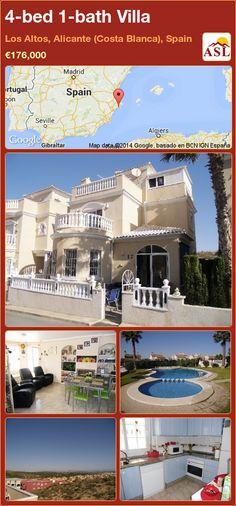 4-bed 1-bath Villa in Los Altos, Alicante (Costa Blanca), Spain ►€176,000 #PropertyForSaleInSpain