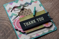 Thank you card by Eva Pizarro using Lakeside Collection