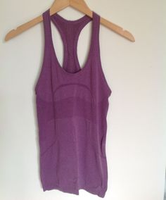 Lululemon Tank 4 Swiftly Purple EUC #Lululemon #ShirtsTops