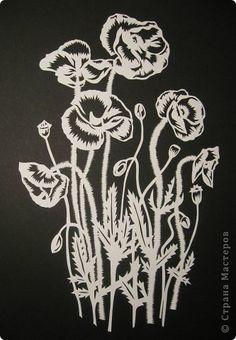 Картина панно рисунок Вырезание Маки_Sarah Trumbauer Бумага фото 2