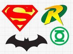 DC super hero logos