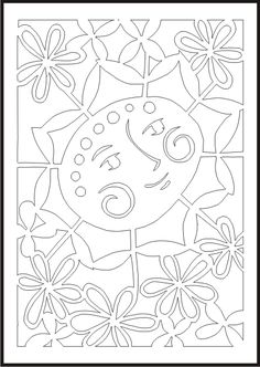 okno Spring Art, Spring Crafts, Paper Cutting Patterns, String Art Patterns, Kirigami, Card Templates, Coloring Pages, Stencils, Christmas Crafts