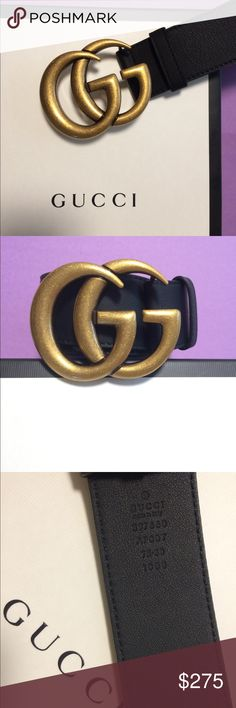 Gucci Double G Belt😍🌟🎁 Double G Leather Black Belt - Most wanted & sold out- Comes with the Box & Dust Bag💜 Gucci Accessories Belts