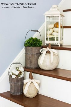 Fall Entry Decor   Ideas and Inspiration from On Sutton Place   Easy ways to add the warmth of Fall to your decor while using what you already have. Simple and budget-friendly ideas with pictures and examples. #spon