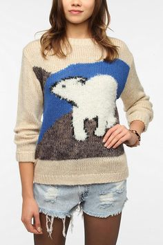 Flocked Animal Portrait Sweater