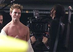 Finnick Odair in his underwear why would they delete this scene?! <<< They did what!?!?!?!