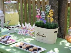 "Love the ""Garden"" bucket with the eggs"