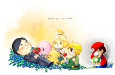 10 heartwarming fan art tributes to Nintendo chief Satoru Iwata Playstation 2, Xbox 360, Illustration Photo, Illustrations, Nintendo Ds, Console Arcade, Geeks, Wii, Creepypasta Anime