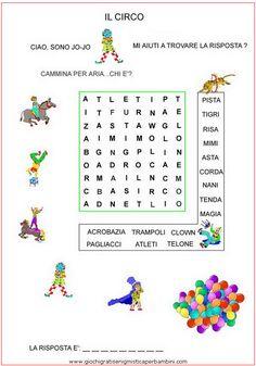 circojojo_g Enigmistica per bambini e ragazzi Italian Words, Crossword Puzzles, Italian Language, Speech Therapy, Book Activities, Pixel Art, Worksheets, Teaching, Education