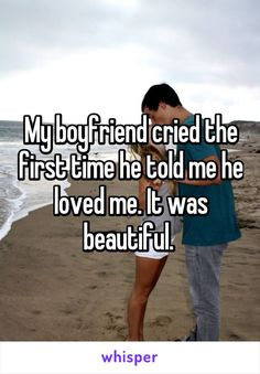 "Whisper App. Confessions on the first time he said ""I love you""."