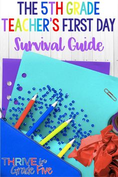 5th grade teachers - If you are worried about the first day of school, check out this survival guide! 5th Grade Writing, Teaching 5th Grade, 5th Grade Teachers, Middle School Teachers, Teaching Reading, Learning, 5th Grade Activities, First Day Of School Activities, Classroom Activities