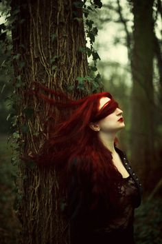Great scene and clever use of hair, the red creates a nice stark contrast.
