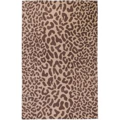 Art of Knot Lynn Wool Area Rug, Brown