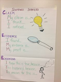 grade claims evidence and reasoning science lesson 7th Grade Science, Middle School Science, Elementary Science, Science Classroom, Classroom Ideas, Classroom Helpers, Science Anchor Charts 5th Grade, Science Bulletin Boards, Classroom Tools