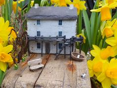 """Dylan Thomas' Boathouse"".  Handmade in Wales using driftwood from Pendine Beach, West Wales together with other reclaimed materials, including Welsh slate."