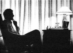 Bobby Fischer in contemplation.