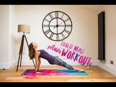 Pilates is amazing for toning your arms and in this workout I show you my favourite moves using a theraband and to work your triceps which is an area I get a. Pilates Workout, Pilates Video, Toning Workouts, At Home Workouts, Best Kettlebell Exercises, Youtube Workout, Workout Videos, Exercise Videos, Toned Arms