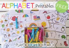 Activities for ages 3 to 5. These free alphabet printables areperfect foryoung learners! Help children identify beginning sounds, lowercase letters and uppercase letters with a colorfulalphabet chart, clip it cards and letter matching puzzles. The free alphabet printables are guaranteed fun and learning in one. What's Inside? The free alphabet printables include: Alphabet chart –This …