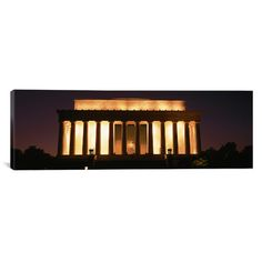 """East Urban Home Panoramic Lincoln Memorial Washington, D.C. Photographic Print on Canvas Size: 16"""" H x 48"""" W x 0.75"""" D"""