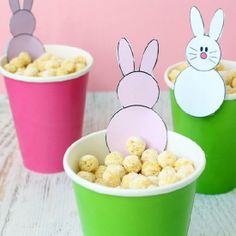Bold, crunchy, cheddar-coated cereal snack for Easter with free bunny printable.