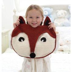 Bernat® Foxy PJ Pillow