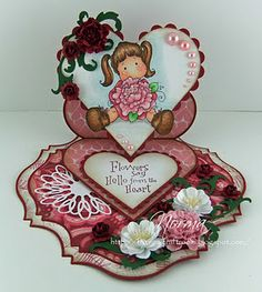 Tilda with Peony tails, Sweet Crazy Love collection, Magnolia stamps