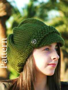 Knitting Pattern - Knit Hat Knitting pattern PDF - Newsboy Hat Pattern - Winter Accessories . $5.50, via Etsy.