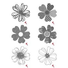 Pansy Punch Tips - For perfect alignment in the punch, look for the petal that has a flat, nearly indented side.  That is the petal that is at the bottom of the punch! stampin up, too cool stamping, cards, stamping, flower shop